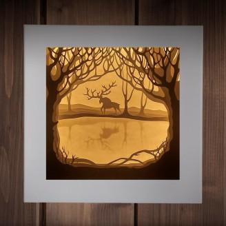 Объемный светильник-ночник Дух леса