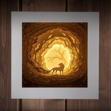 Светильник-ночник Огненный лис