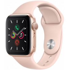 Apple Watch Series 5, 40 мм, Розовое Золото, Спортивный Розовый Ремешок